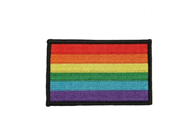 Rainbow Pride Flag Embroidered Iron On Badge Applique Patch