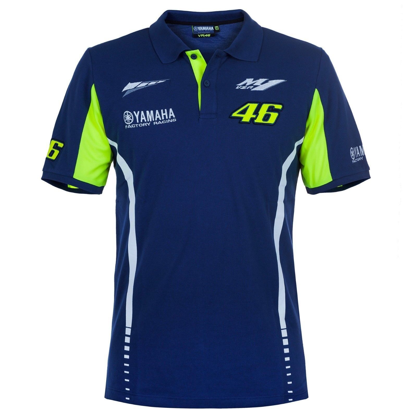 New Official Valentino Rossi Yamaha Dual Polo Shirt