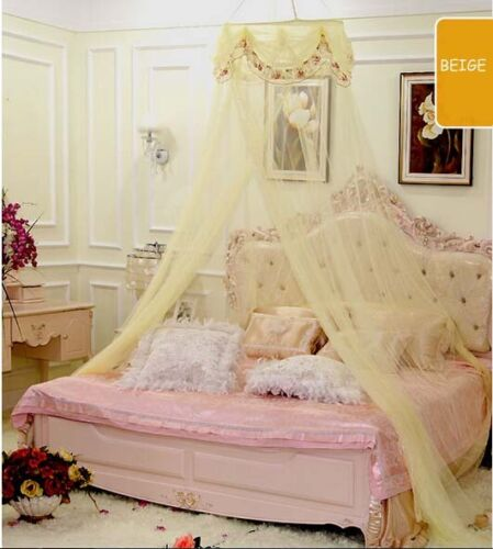 Princess Floral Mosquito Net Canopy Bites Protect For Twin Full Size