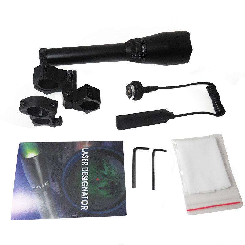 ND 50 Láser verde Designador de larga distancia con montaje de alcance ajustable de la antorcha