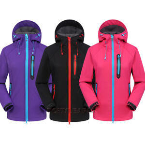 Womens-Soft-Shell-Outdoor-Waterproof-Hiking-Fleece-Lined-Winter-Golf-Jacket-Coat