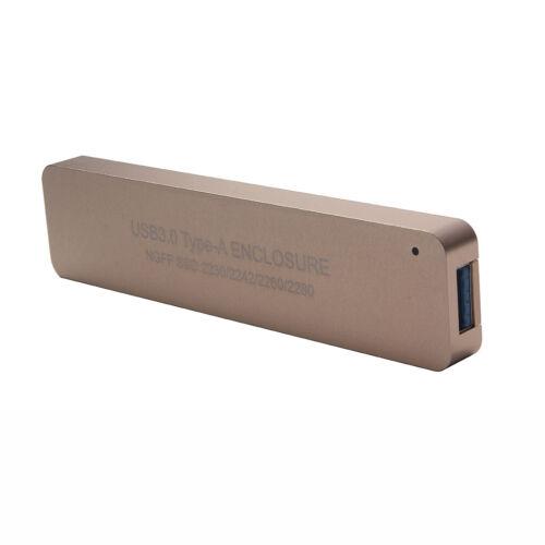USB3.0 To 2280 NGFF M.2 SATA-Based B Key SSD External Enclosure Storage Case New