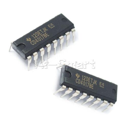 50PCS CD4017BE 4017 CD4017 DECADE COUNTER DIVIDER IC UK