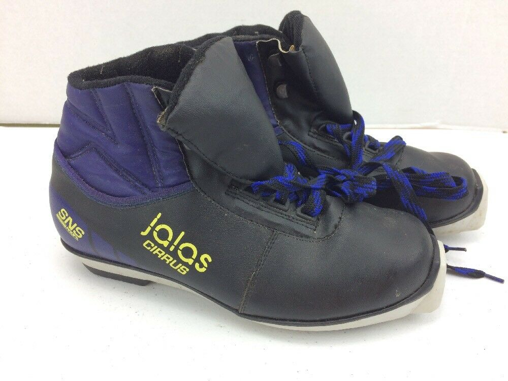 Thinsulate Cirrus Black and Blue 7.5 Winter Ski Shoes Size 7.5 Blue d38361