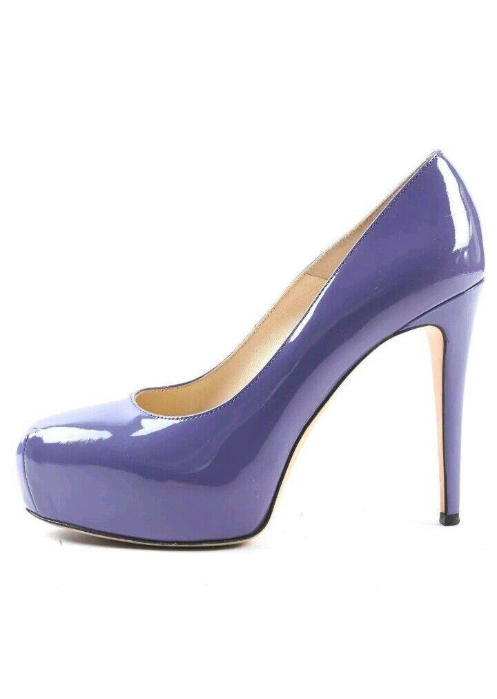 585 BRIAN ATWOOD Purple Patent Patent Patent Leder Platform Maniac Heels SZ 38 US 8 or 7.5 5cf035
