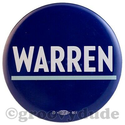 Campaign Pin-Back Button Elizabeth Warren 2020 1 1//2 in