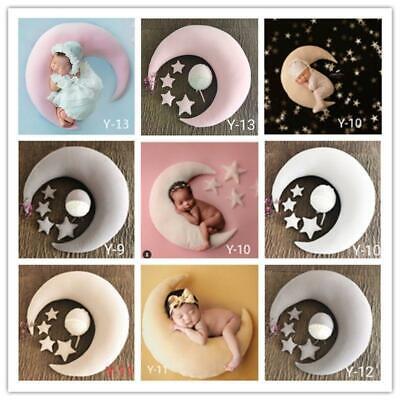 Xzbnwuviei Newborn Photography Moon Pillow Star Hat Set,Baby Hat Posing Beans Moon Pillow Stars Set Newborn Photography Props Infants Photo Shooting Accessories