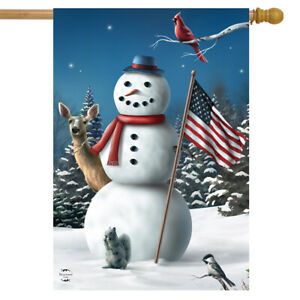 "Magic Of The Season Winter House Flag Cardinals Lantern 28/"" x 40/"" Briarwood Lane"