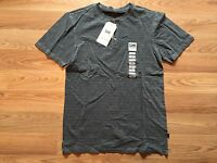 Mens Lee Premium Select Gray Texture Striped Henley S/s Shirt Size S Small