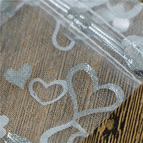 100x Bolsa De Regalo de Organza Caramelo Transparente joyas bolsa boda cumpleaños fiesta decorls