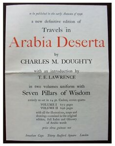 1936-Original-Prospectus-ARABIA-DESERTA-CHARLES-M-DOUGHTY