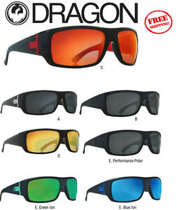 c899a10d52 Image is loading DRAGON-VANTAGE-Sunglasses-Matte-Black-Red-Ion-Polarized-