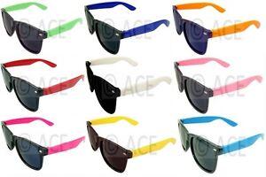 Mens-Womens-Wayfarer-Sunglasses-Coloured-Arms-Men-80s-Classic-Retro-Sunnies