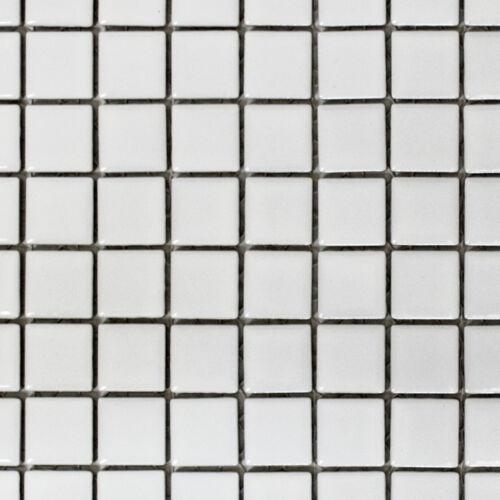 Mosaïque en céramique Blanc Mat WC Salle de Bain Mur De Cuisine Mur Arrière Carrelage wb18d-01111 de coffre