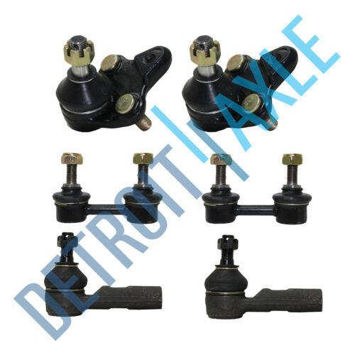 1998-2001 2002 Chevy Prizm Front Lower Ball Joints Outer Tie Rod Sway Bar Link