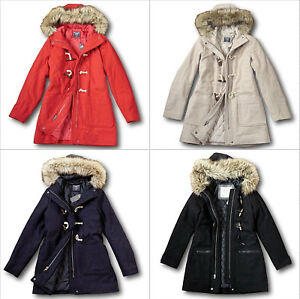Details About Nwt Abercrombie Fitch Women S Wool Blend Duffle Coat Toggle Parka Quilted Jacket