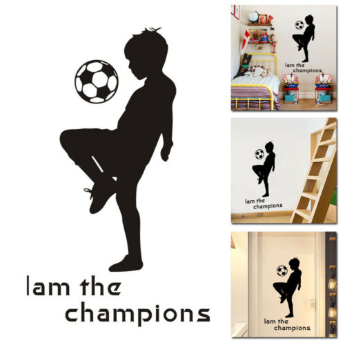 New Soccer Ball Wall Sticker Decal Kids Bedroom Home Room Playing DIY Decor 2019
