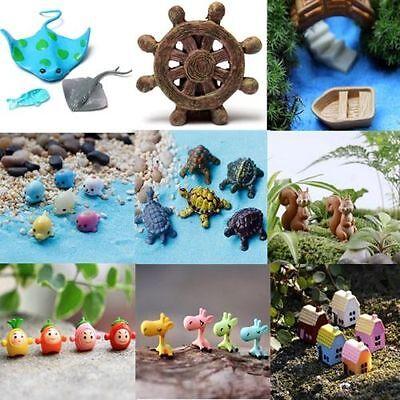 18 style Marine wildlife Garden Decor Mini Resin Figurine Craft Plant Pot Fairy