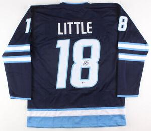 Bryan-Little-Signed-Winnipeg-Jets-Ice-Hockey-Jersey-Beckett-COA-Autographed