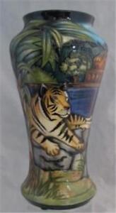 2002-Moorcroft-RANTHAMBORE-TIGER-Vase-278-Of-400-Sian-Leeper-1st-Quality-NICE