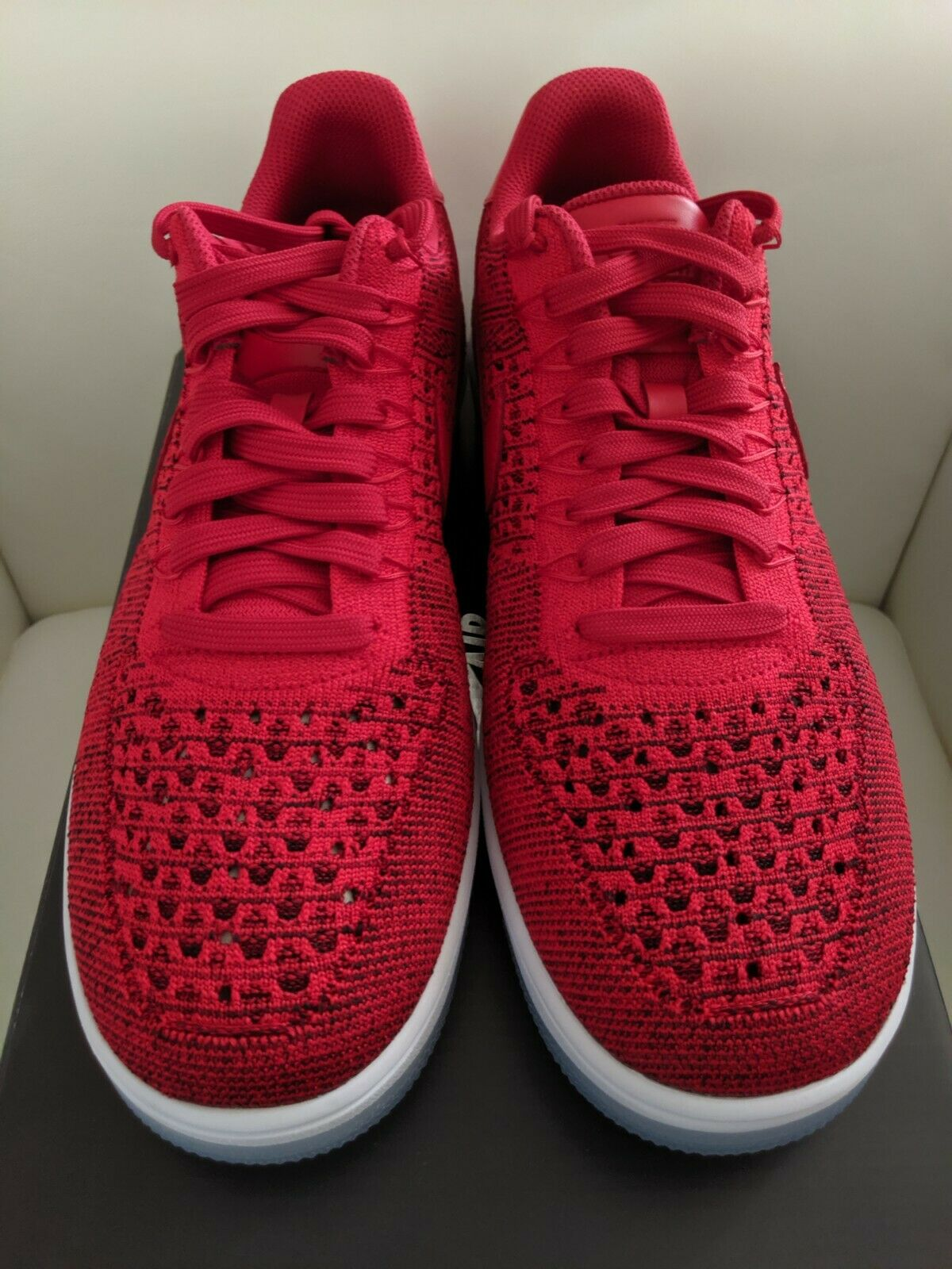 newest a4eb1 16a49 Nike Air Force 1 Ultra Flyknit Low Mens Shoes Sz 9 University Red 817419-600