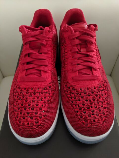 newest 9a613 ec36e Nike Air Force 1 Ultra Flyknit Low Mens Shoes Sz 9 University Red 817419-600