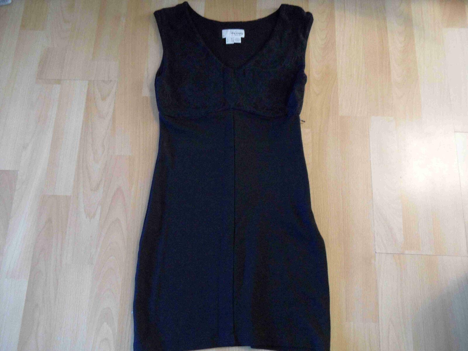 ESPRIT de Corp schmales Jerseykleid m. Spitze black Gr. XS TOP kCE416