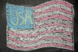 USA-American-Flag-Chalk-Drawing-Patriotic-Art-Print-Mural-Poster-36x54-inch