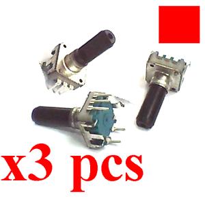 3Stks 360° Rotary Encoder EC12 E12 15mm Audio Digital Potentiometer 15mm Handle