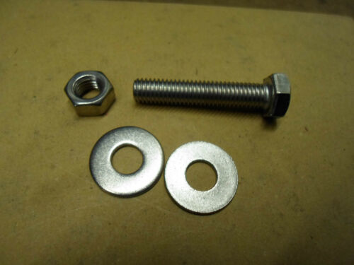 M6 6MM A2 STAINLESS STEEL HEX HEAD  BOLT WITH NUT AND WASHERS