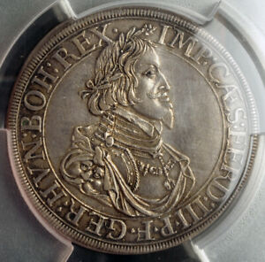 1641-Augsburg-Free-City-Ferdinand-III-Silver-034-City-View-034-Thaler-PCGS-AU50