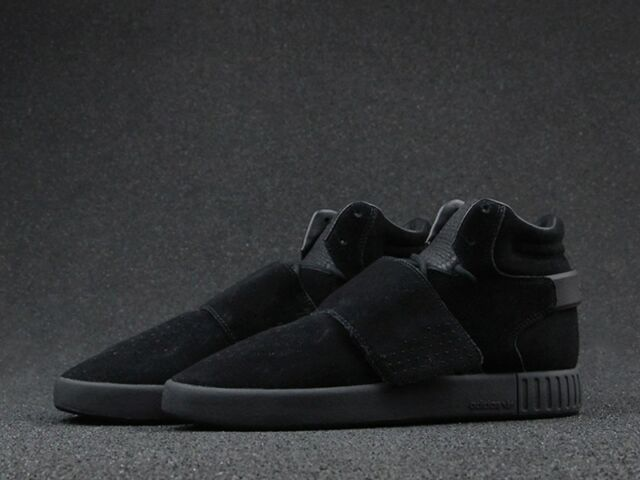 adidas Originals Tubular Invader Strap Men s Sneaker Gym Shoe Black ... ee1aa21fc