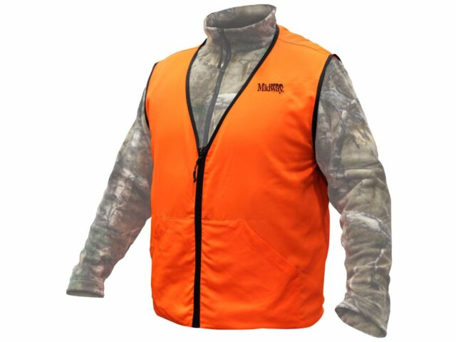 d701276801111 Midway USA Blaze Orange Hunting Safety Vest 2xl for sale online | eBay