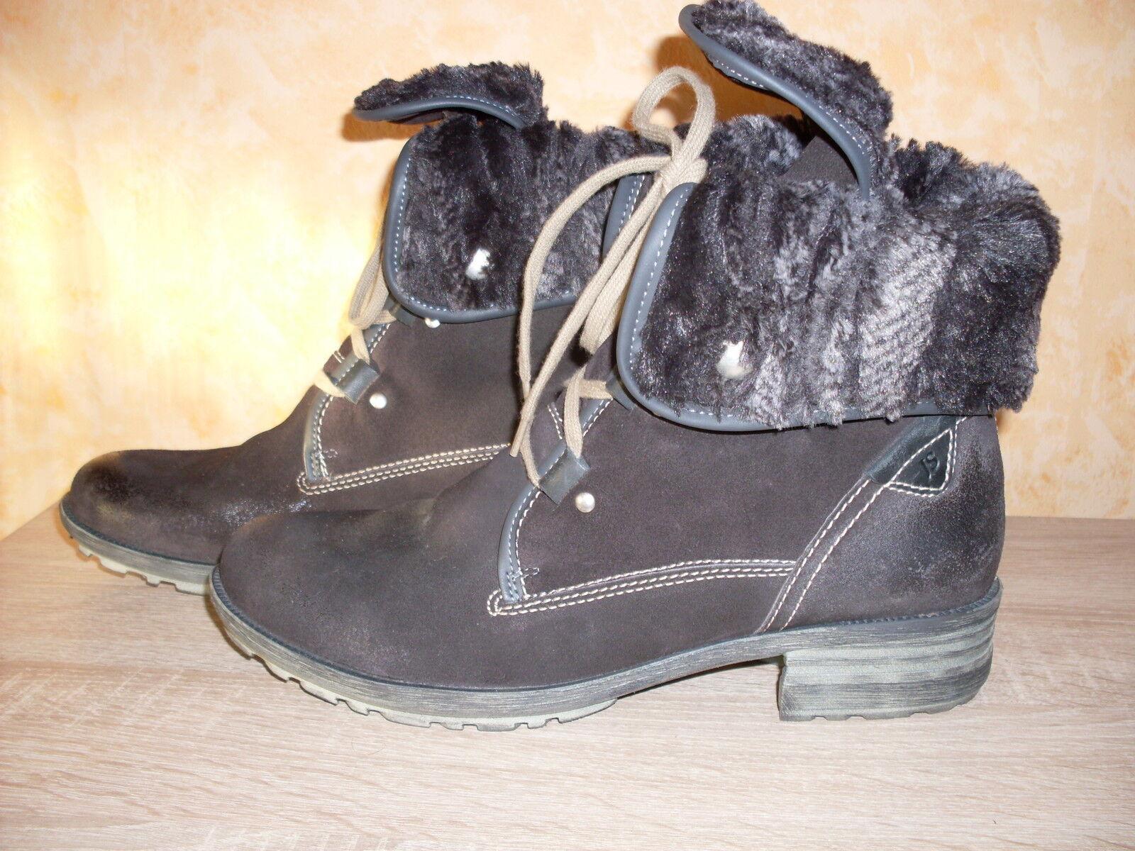 Josef Seibel botín nuevo talla 42 42 42 en marrón oscuro & cuero super cómodos  caliente