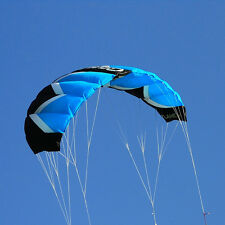 2M² Quad Line Blue Traction Kite Powerkite Trainer Kite Parafoil Water Sport Fun