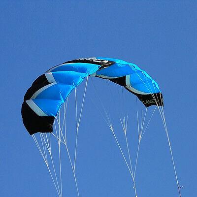 2M² 4 Line Traction Kite Powerkite Trainer Stunt Kite Parafoil Water Sport Fun