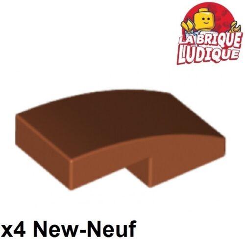 Lego 4x Slope curved pente courbe 1x2 dark orange foncé 11477 NEUF