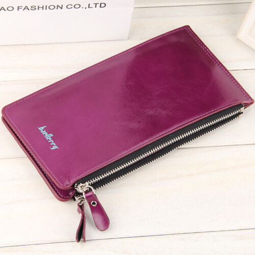 Busisness Long Leather Wallet Credit Card Money Holder Baellerry Genuine Purse