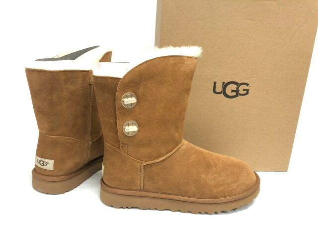 a5496ab0b48 UGG Short Turnlock Chestnut Suede Sheepskin Fashion Women's BOOTS Size US 10