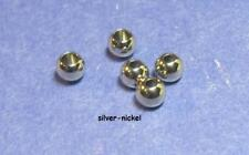 "100 Brass Fly Tying Bead Beads In Silver//Copper 3.8mm 5//32/"" You Pick"