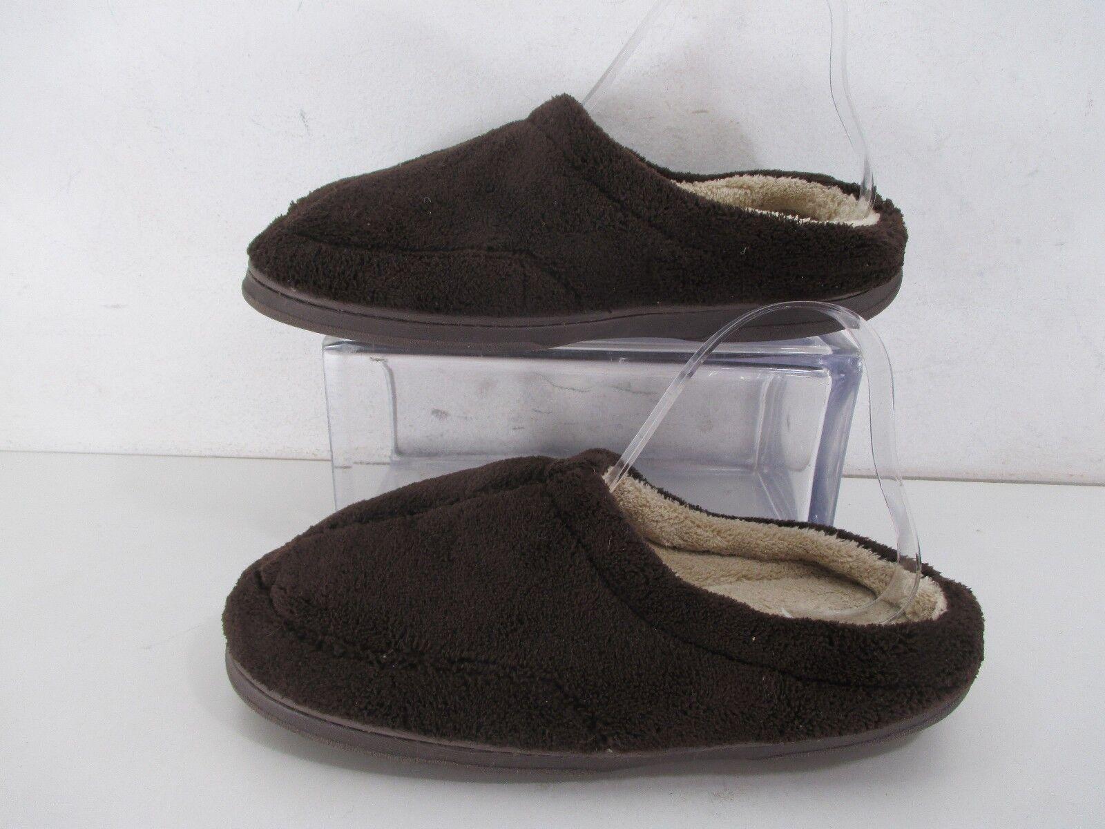 1b7f929681bf Dearfoams Soft Supple Terry Cloth Slippers Brown Sz 7-8-M (B1967) -  aijaz.info