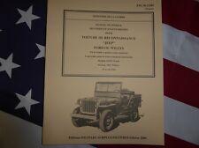 Revue manuel technique TM 10-1349 JEEP WILLYS / Ford de 1943 TRUCK WW2 MILITARIA
