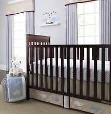 Wendy Bellissimo Snug Harbor Baby Boy's 3-Piece Crib Bedding Set, Blue Multi