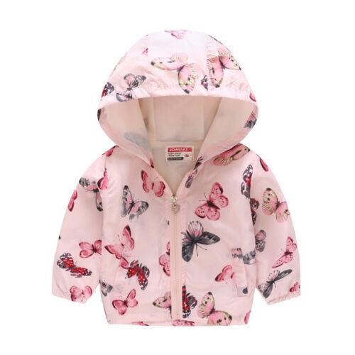 Toddler Kids Baby Coat Outerwear Boy Girl Hooded Cartoon Jacket Windbreaker Tops