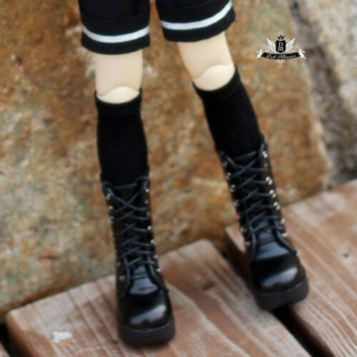 1//4 BJD Shoes MSD Dollfie DREAM Black leather Boots MID DOD SOOM AOD Dollmore DZ