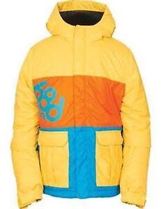 giallo m 686 snowboard da Elevate Contrasto Colore Bambini Giacca q01gUWwq