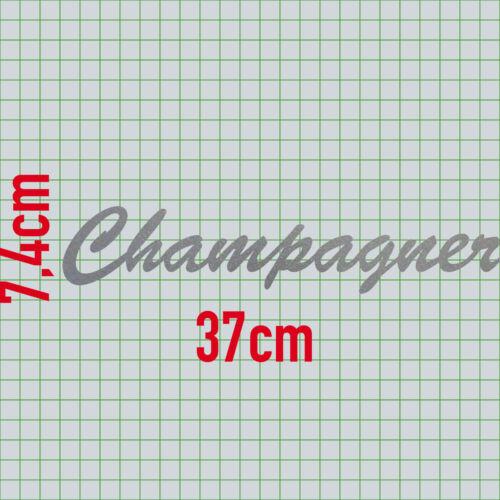 Champagner 37cm silber Schriftzug Wandtattoo Aufkleber Tattoo Deko Klebe Folie