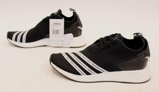 the latest cb820 321a2 adidas Men's White Mountaineering NMD_R2 Shoes GG8 Black BB2978 Size 10