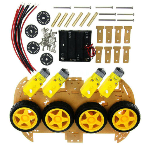 4WD Auto Fahrgestell Gleichstrommotor 4WD Roboter Kit Drehzahlgeber Langlebig