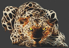 Electric Leopard Counted Cross Stitch Kit ,Animals/Insects Designs In Thread